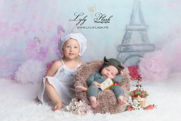 Photographe naissance bébé  inspiration film