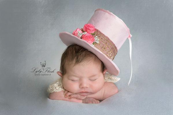 portrait de bébé artistique par photographe professionnel