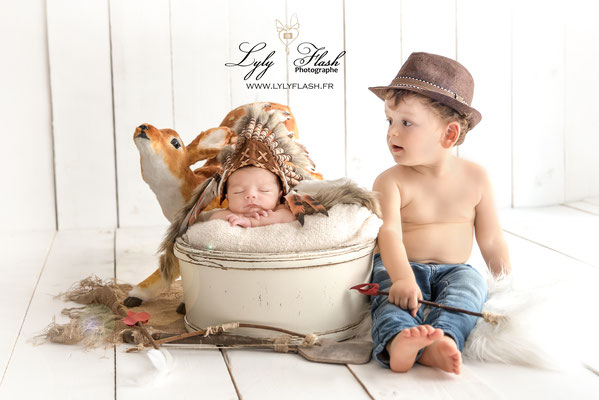 photo indien et cow boy photographe studio bébé et enfant Monaco