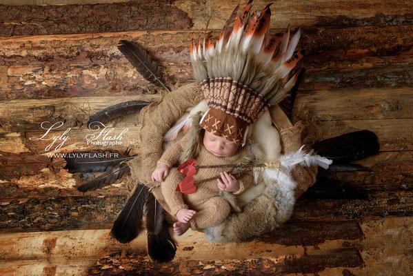 photographe d'art inspiration indien naissance bébé métisse bois et nature Aix en provence moncaco Sanary