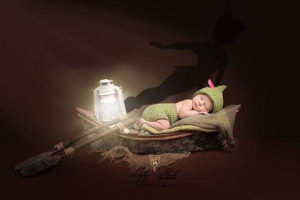 photographe original naissance bébé artisitque