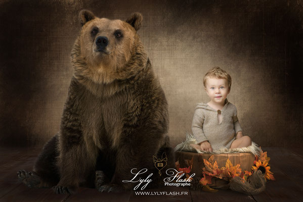 photographe d'art pour bébé garcon de 1 an joyeux anniversaire