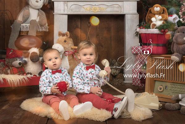 photographe bébé enfant noël magique Carces