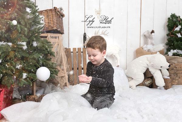 studio photo noël dans la neige