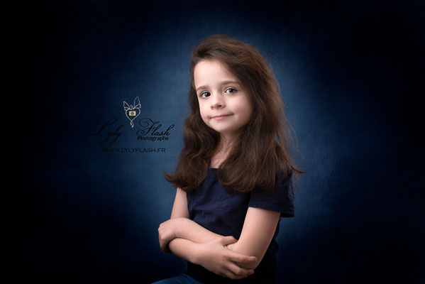 portrait enfant studio photo