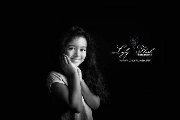 portrait d'enfant pour la séance photo shooting