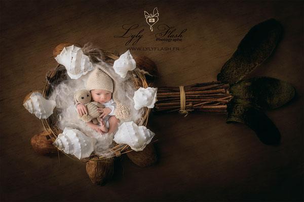 Photographe naissance bébé  créatif
