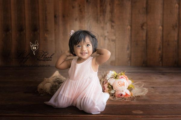 portrait photo bébé métisse