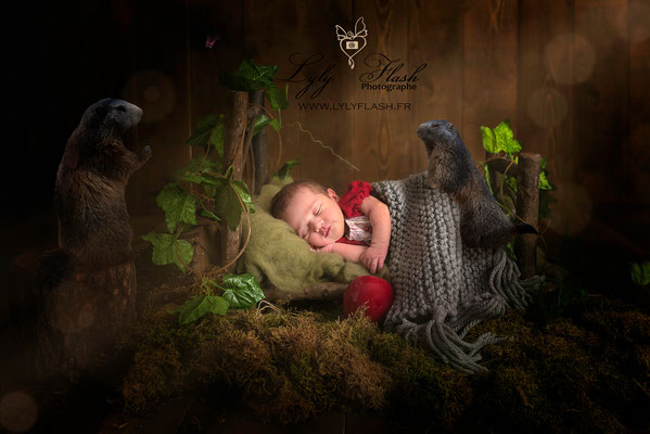 Photographe naissance bébé  original