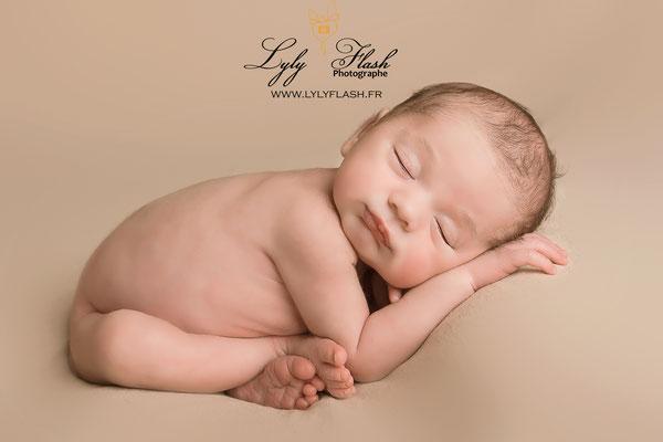 photo de posing newborn par une photographe de Toulon dans le avr près de Brignoles