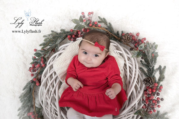 photo bébé noël photographe Toulon Var studio