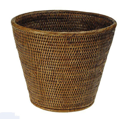 0044 Rattan  Waste Paper Basket ø30x25