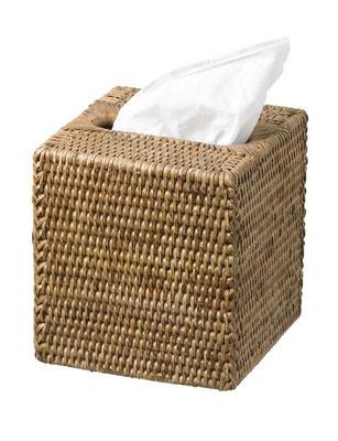 0154 Rattan  Cube Tissue Box 14x14x14