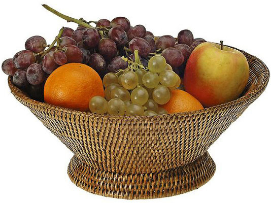 0008 Rattan  Fruit Bowl ø30x12