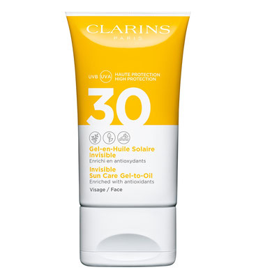 Clarins Invisible Gel-in-Oil Facial Sun Care UVA/UVB 30