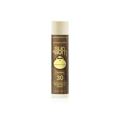 SunBum Original SPF 30 Sunscreen Lip Balm - Coconut