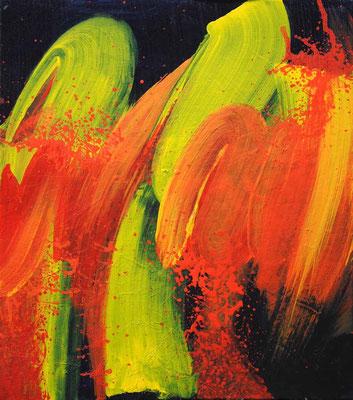 Ohne Titel Nr. 240.1, 60x70 cm, Acryl mit Tapetenkleister auf Leinwand