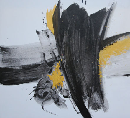 Ohne Titel Nr. 251.1, 100x80 cm, Acryl mit Tapetenkleister auf Leinwand
