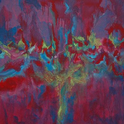 Ohne Titel Nr. 207.1, 80x80 cm, Acryl auf Leinwand