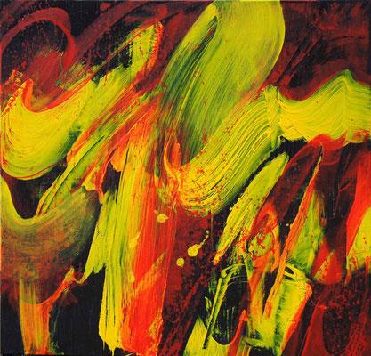 Ohne Titel Nr. 240, 80x80 cm, Acryl mit Tapetenkleister auf Leinwand