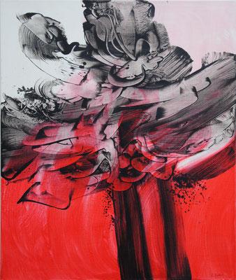 Ohne Titel Nr. 256.1, 80x100 cm, Acryl mit Tapetenkleister auf Leinwand