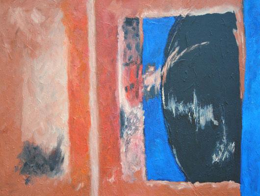 Ohne Titel Nr. 254, 100x70 cm, Acryl mit Spachtelmasse auf Leinwand