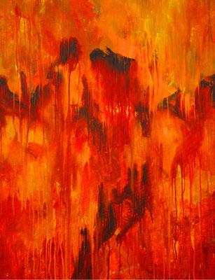 Ohne Titel Nr. 269, 80x100 cm, Acryl auf Leinwand