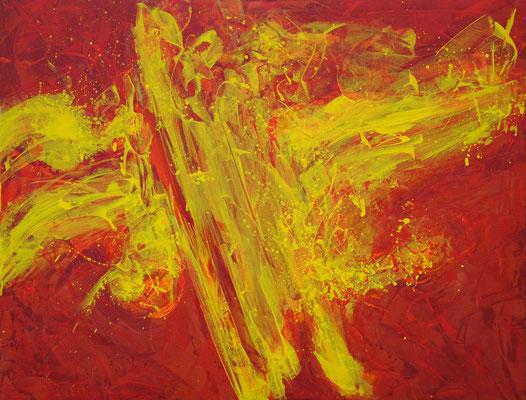Ohne Titel Nr. 245, 100x80 cm, Acryl mit Tapetenkleister auf Leinwand