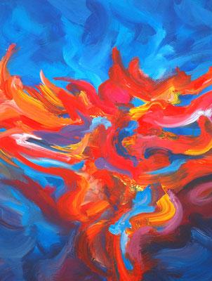 Ohne Titel Nr. 208, 70x100 cm, Acryl auf Leinwand