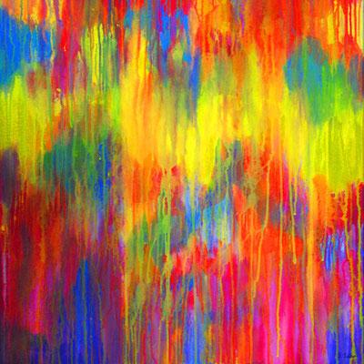 Ohne Titel Nr. 271, 80x80 cm, Acryl auf Leinwand
