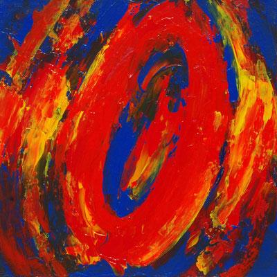 Ohne Titel Nr. 203.1, 50x50 cm, Acryl mit Spachteltechnik auf Leinwand