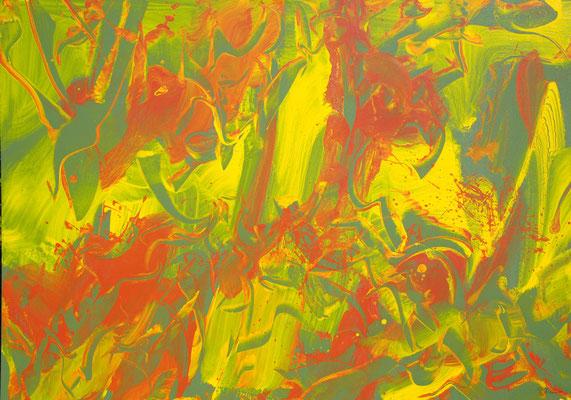Ohne Titel Nr. 242, 100x70 cm, Acryl mit Tapetenkleister auf Leinwand