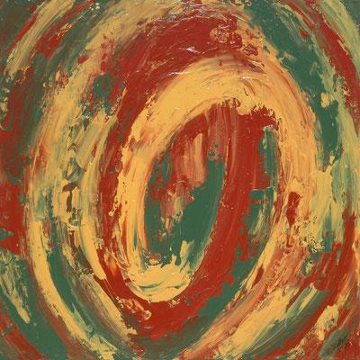 Ohne Titel Nr. 204, 50x50 cm, Acryl mit Spachteltechnik auf Leinwand