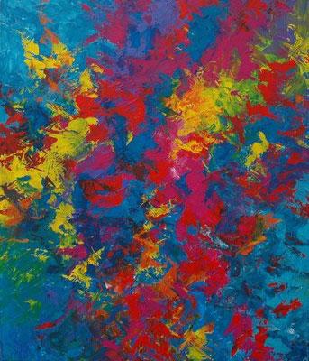 Ohne Titel Nr. 213, 80x100 cm, Acryl und Spachteltechnik auf Leinwand