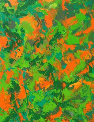 Ohne Titel Nr. 219, 80x100 cm, Acryl mit Spachteltechnik auf Leinwand