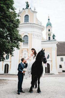Brautpaarshooting Kloster Ochsenhausen mit Friese Sybrand
