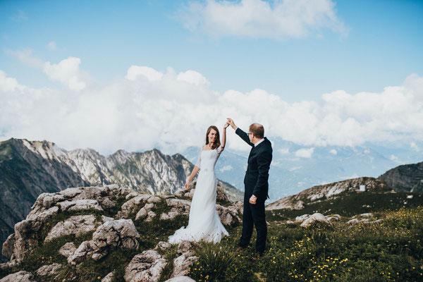 Heiraten im Allgäu - After Wedding Shooting auf dem Nebelhorn- Fotografie im Allgäu