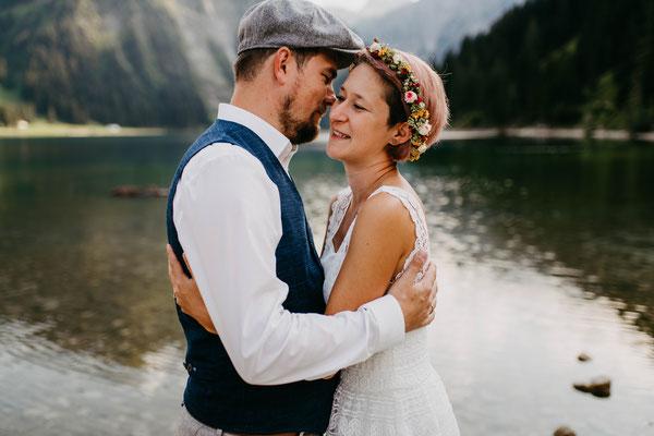 Heiraten im Allgäu - Vintage Wedding - Blauer Salon - Vilsalpsee - Allgäufotografie - Heiraten in Oberstdorf