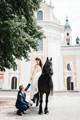 Pferdeshooting Hochzeit
