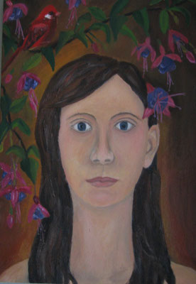 Ölmalerei Portrait, Luzie