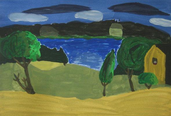 Malerei mit Eitempera, nach Rolf Werner,