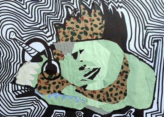 Collage, Edding, Malvine Klawitter