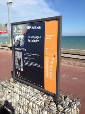 Panneaux installés sur le front de mer pour la Solitaire du Figaro 2019