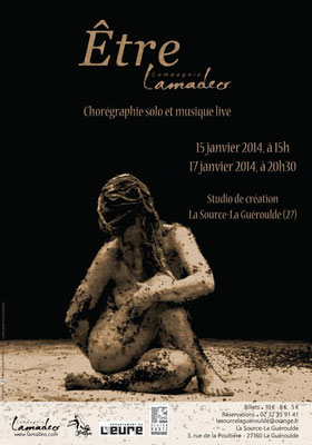 Affiche du spectacle Etre de la compagnie Lamadeo