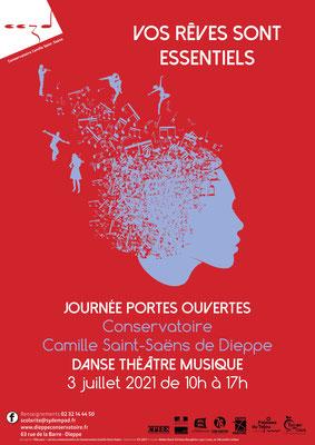 Affiche Conservatoire Camille Saint-SAëns