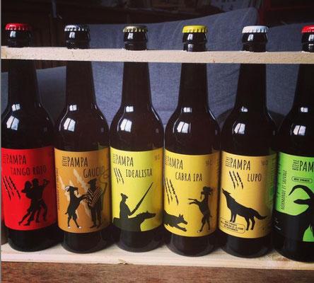 étiquettes des bières de la Pampa - Ferme des Marronniers