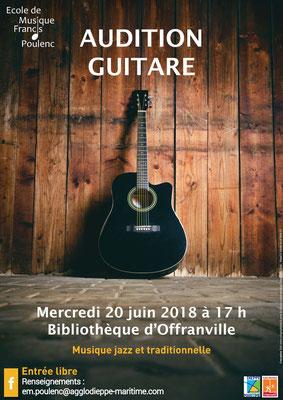 Affiche pour l'école de musique d'Offranville