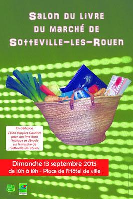 Affiche salon du livre Marché de Sotteville