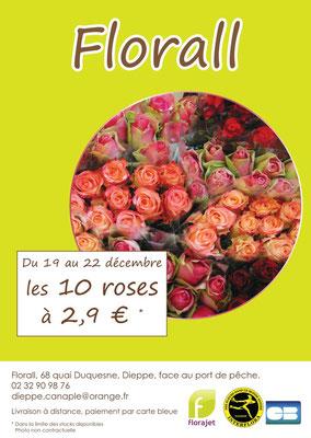 Flyer réalisée pour le magasin Florall - Noël 2013
