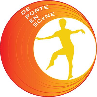 Logo de la compagnie de danse Portes en scène